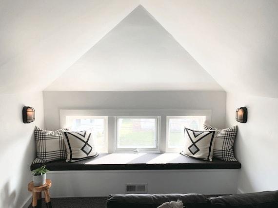 Sunbrella Custom Cushion - Bedroom Bench Seat - Window / Mudroom / Patio /  Breakfast Nook - Indoor / Outdoor Fabric - 5\' Wide / 3\