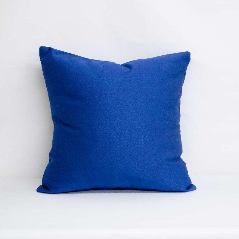 Home Decor Indoor Not Basic Blue Zippered Pillow Cover Accent Pillow 20x20 Throw Pillow