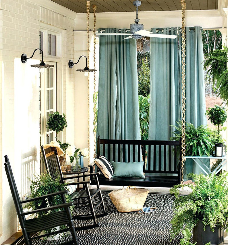 Wondrous Custom Sunbrella Curtain Panel 100 Wide Custom Length Drapery Outdoor Patio Extra Wide Width Long Drapes Elements Makers Home Interior And Landscaping Oversignezvosmurscom