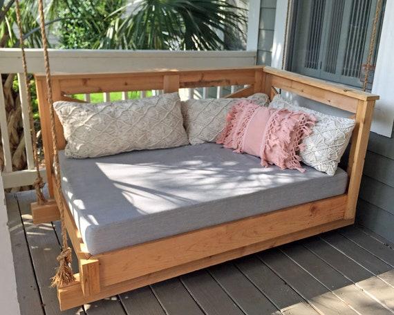 buy online 9a1a9 765e3 Sunbrella Daybed Custom Cushion - Crib Mattress - Farmhouse Decor - Porch  Swing / Glider / Swing Bed - Outdoor Fabric - 52
