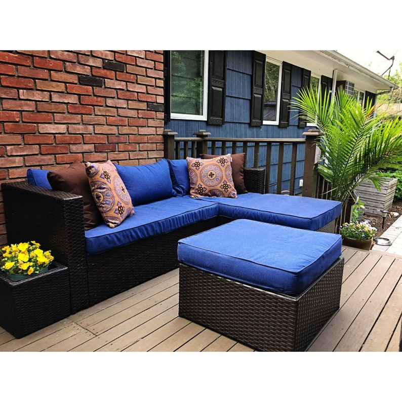 Outdoor Fabric by the Yard 1 Yard Sunbrella Echo Midnight 8076-0000 Upholstery Fabric 10/% OFF Elements Collection 54 Wide