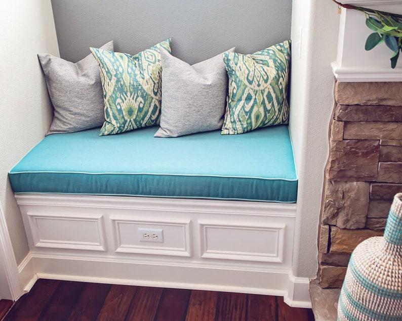 Sunbrella Custom Cushion Cover Storage Bench Cushion Etsy