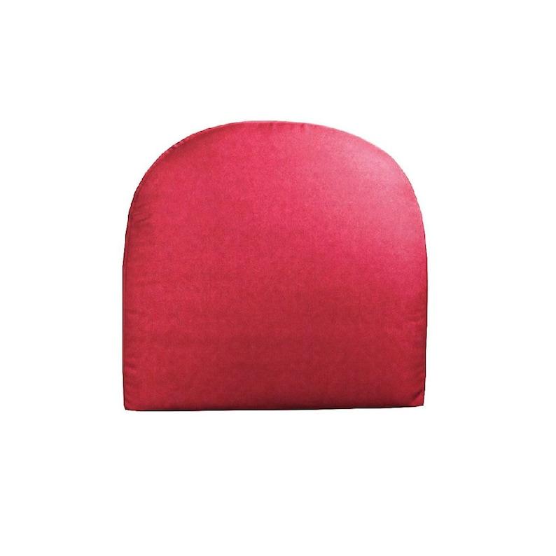 Rounded Cushion Sunbrella Cushion 19.5x20x5 Sunbrella Canvas Jockey Red Deep Seating Wicker Chair Seat Cushion Curved Cushion