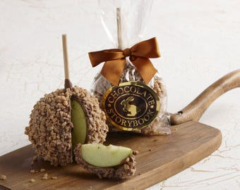 Chocolate Caramel Apple with Toffee