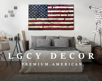 3a72dd666b6 Huge Wood American Flag