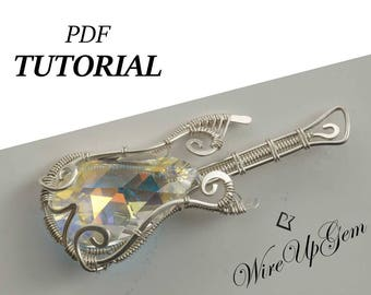 Guitar tutorial etsy guitar pdf tutorial wire wrap tutorial wire wrapping tutorial music guitar guitar jewelry wire wrap guitar tutorial pdf solutioingenieria Choice Image