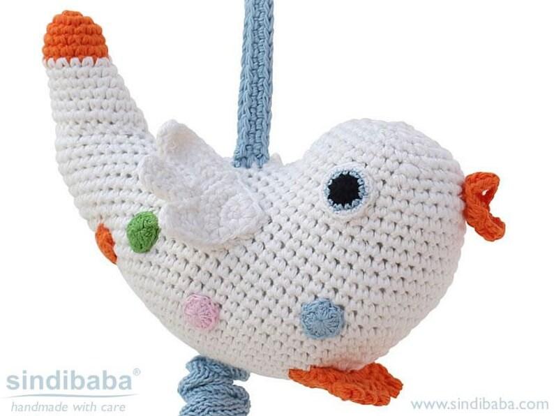 Spielzeug Sporting Handmade Baby Rassel Gehäkelt Affe Braun