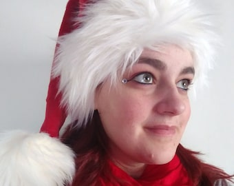 Red (Made to Order) - Santa Hat (Luxury faux fur)