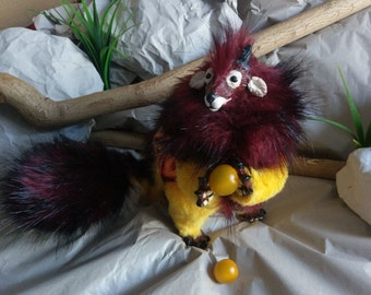 SOLD Fire Trixx (Common) Poseable Art Doll (AVAILABLE made to order)