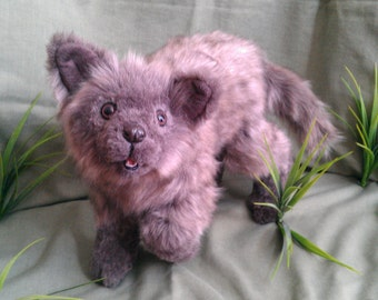 SOLD Koda the wolf pup poseable art doll (AVAILABLEmade to order)