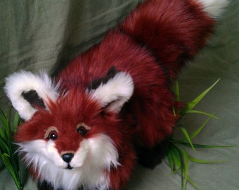 SOLD Todd the Fox (Woodland Babies Edition) Poseable Art Doll (AVAILABLE made to order)