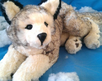 UNAVAILABLE Elsa the Husky Poseable Art Doll (Fur out of stock, see below for details)