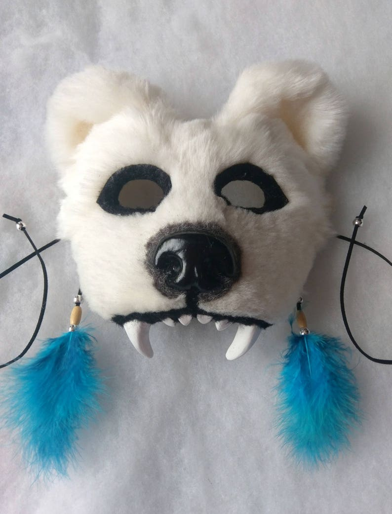 SOLD Spirit/Totem Animal (Polar Bear) Mask AVAILABLE made to order