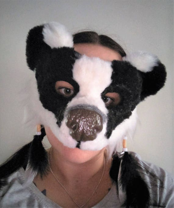 Badger AVAILABLE made to order, see below for details SOLD SpiritTotem Animal Mask