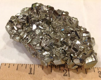 Wonderful crystal cluster Pyrite from Huanuco Peru mineral specimen