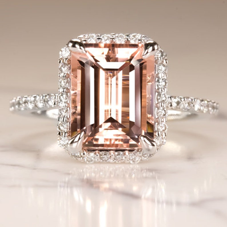 Fine Rings Fine Jewellery Bright 2.70 Ct Diamond Solitaire 14k White Gold Wedding Ring Size M