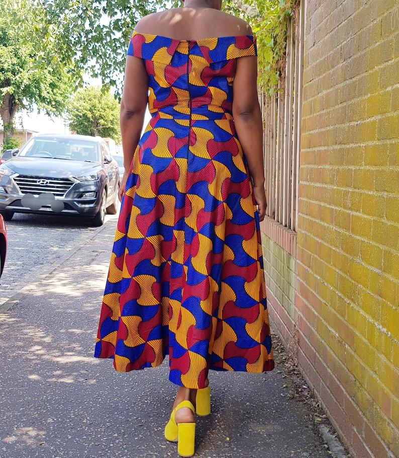 Ankara African print fabric maxi dress