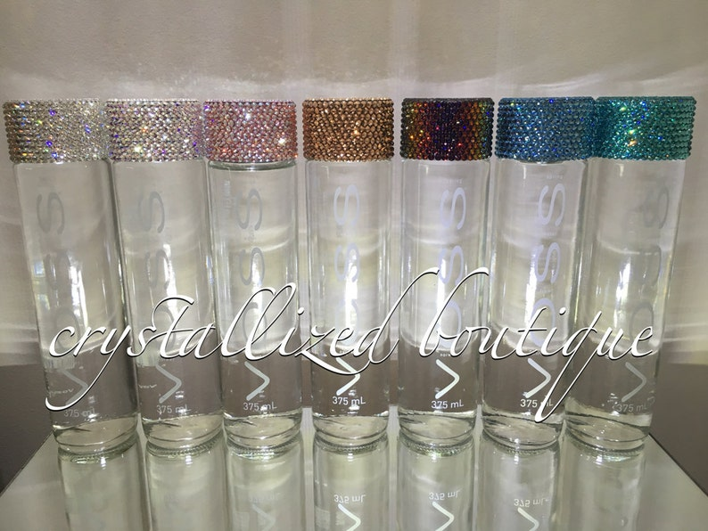 Voss water bottle with Swarovski Lid
