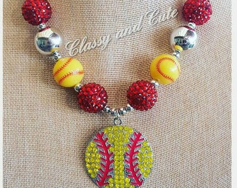 Softball Chunky Necklace