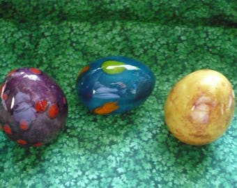 Easter Eggs Tan, Blue, and Purple