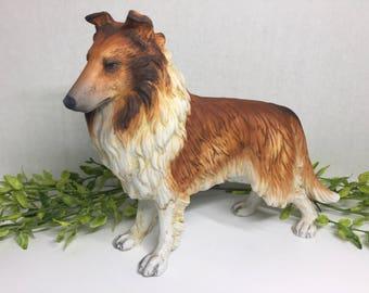Andrea by Sadek Sheltie Collie Vintage Dog Figurine