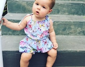 PDF Pattern - Bloomer Romper - Babies Toddlers - Sizes Premie to 5-6T - Instant Download -Easy Photo Tutorial