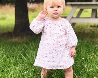 PDF Pattern - Peasant Dress - Babies/Toddlers - Sizes Newborn to 5-6T - Instant Download - Easy Photo Tutorial