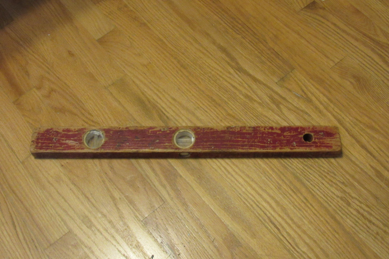 Antique Wooden Level Vintage Red Level Shop Prop Great Garage Decor ...