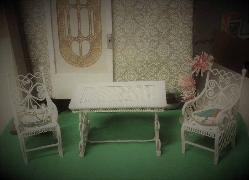 Filigree Bowl Stand Dollhouse Miniature Doll House