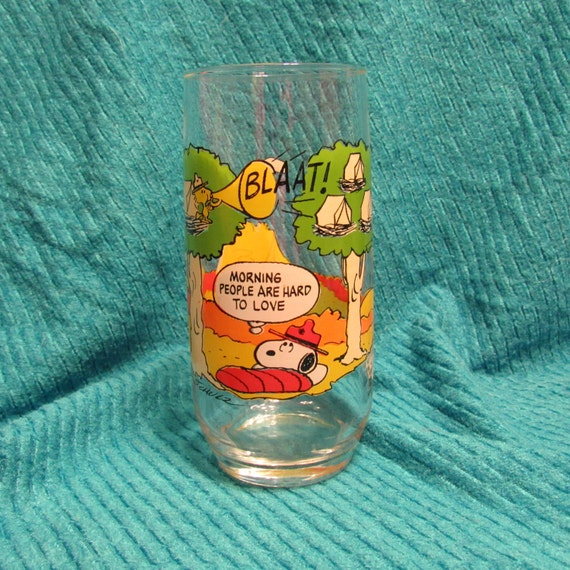 b858a5c52f Snoopy 1967 McDonald Camp Snoopy Collection Glass Snoopy and