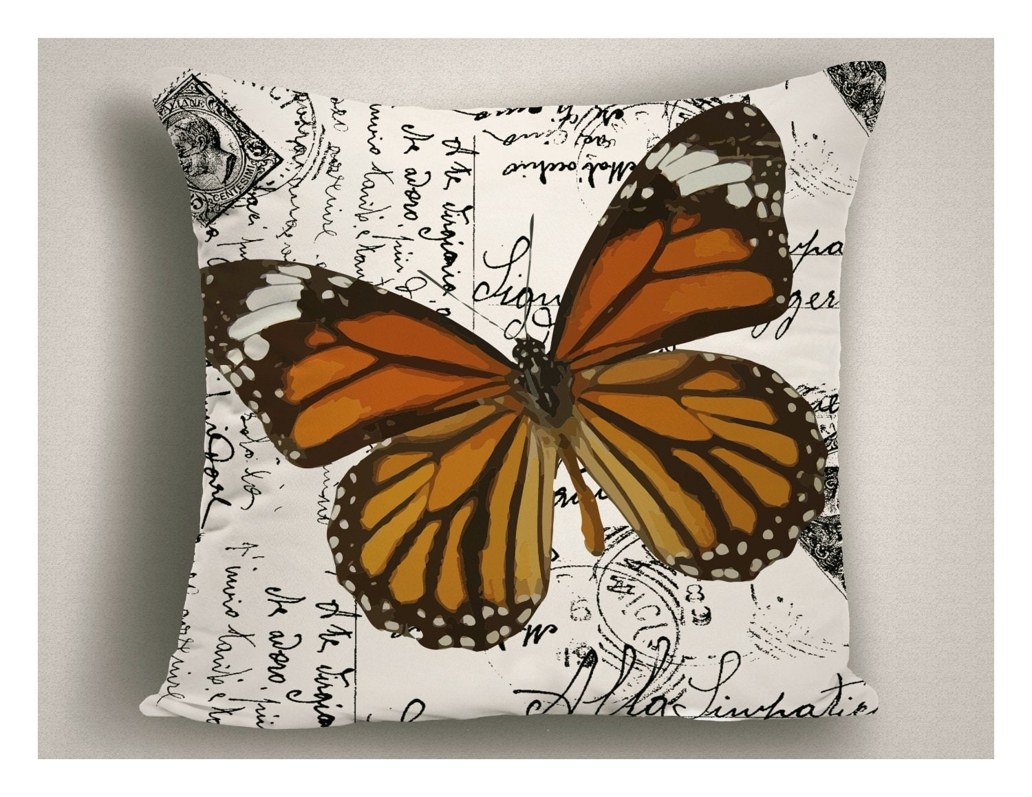 Unique Outdoor Pillow Script Writing Monarch Butterfly, Patio Pillow Cover,  Outdoor Pillows With Sayings, Decorative Outdoor Pillow Cushion