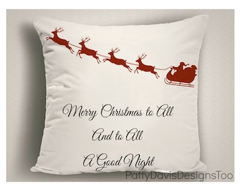 Decorative Christmas Pillow Covers, Holiday Pillows, Designer Throw Pillows, Christmas Decor, Christmas Gift, Christmas Decorations