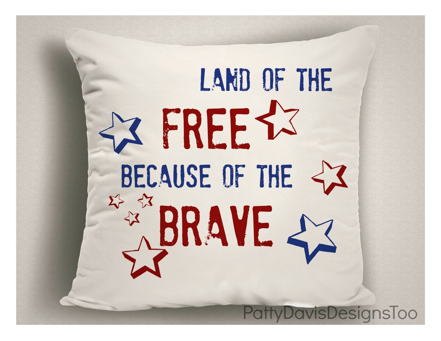 4th Of July Outdoor Pillow Land Of The Free 4th Of July Decorations