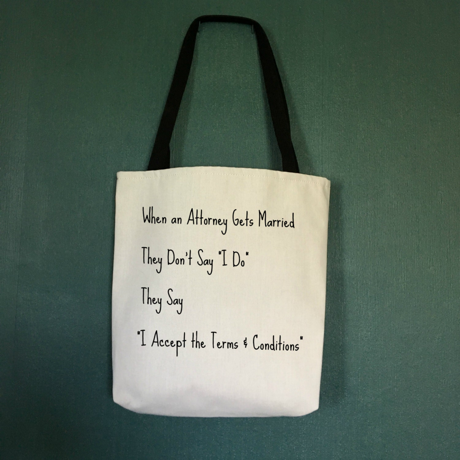 Tote Bag When An Attorney Gets Married Unique Gifts For Lawyers