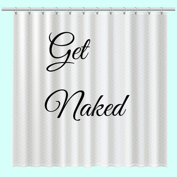 Naked shower curtains