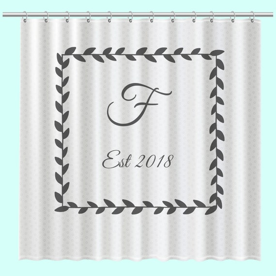 Custom Monogram Shower Curtain Personalized