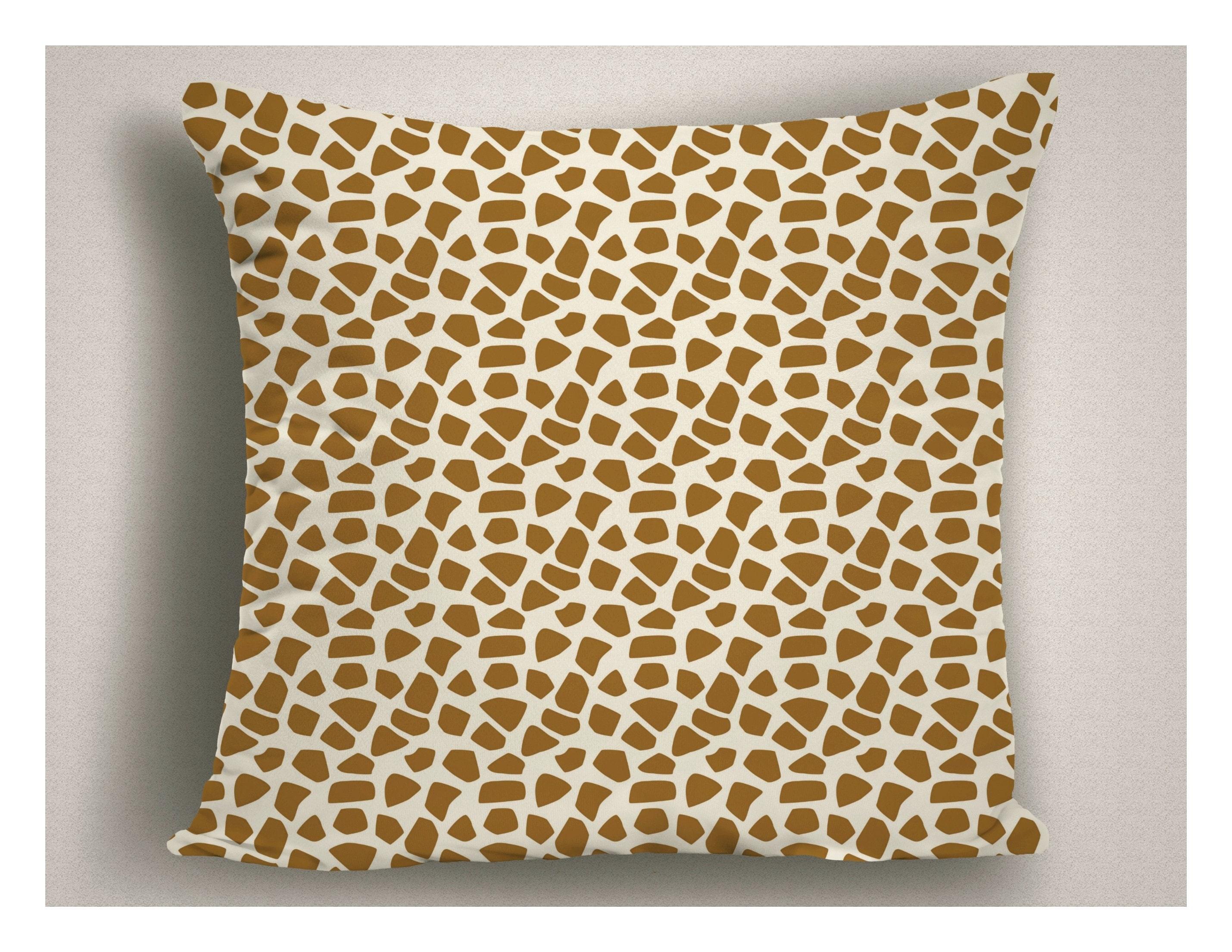 Unique Giraffe Print Throw Pillow Animal Print Pillow African Decor