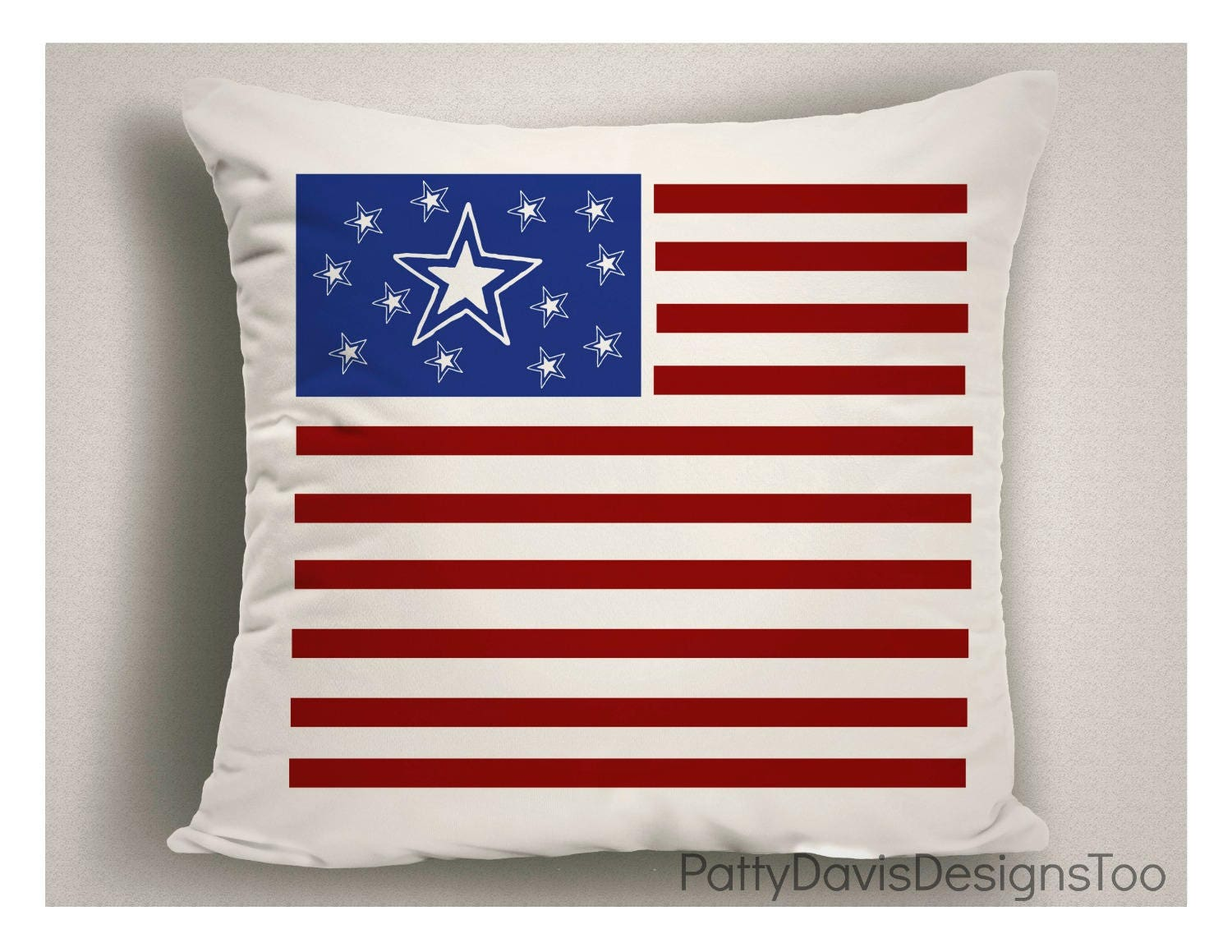 American Flag Outdoor Pillow 4th Of July Decorations Decorative