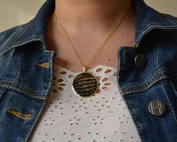 655add83c189 Allah Anhänger Gold beschichtet Halskette islamischen   Etsy