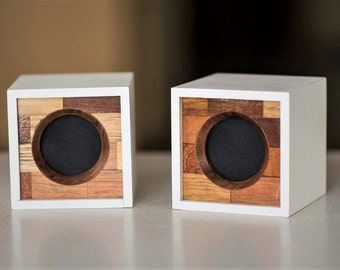 Speakers for home Portable TV Speakers Made of exotic wood Two audio