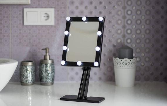 Make Up Spiegel : Schwarz make up spiegel mit beleuchtung hollywood beleuchtete etsy