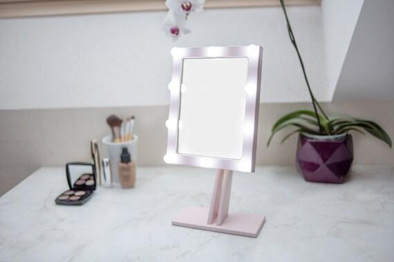 Spiegel Make Up : Rosegold make up spiegel mit beleuchtung hollywood beleuchtete etsy