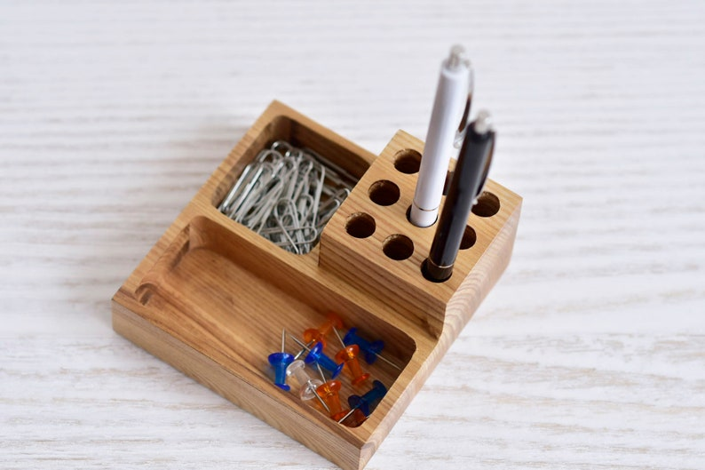Houten Bureau Kantoor : Hout desk organisatoren houten kantoor tabel organisator etsy