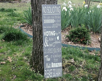 No Soliciting Sign, No Solicitors Sign, No Solicitation Sign, Wood Porch Signs, Wooden Welcome Signs, Wooden Porch Sign