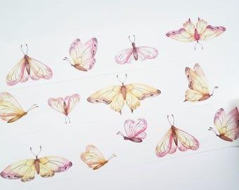 Design Washi tape butterflies yellow autumn masking tape