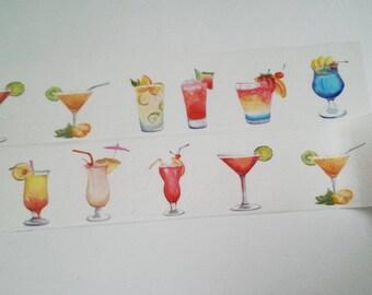 Design Washi tape Cocktails drinks summer