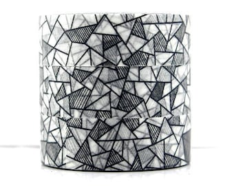 Washi tape grey mosaic