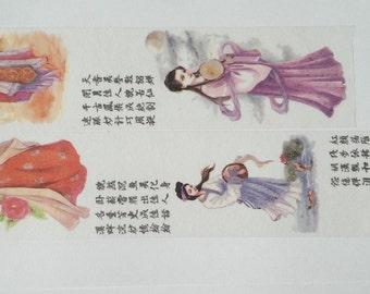 Design washi tape Chinese girl font