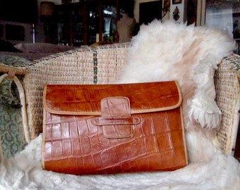 Leather bag, vintage light brown