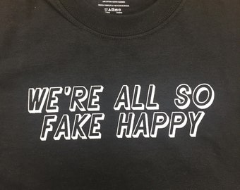 "Paramore ""Fake Happy"" Screenprinted T-Shirt"